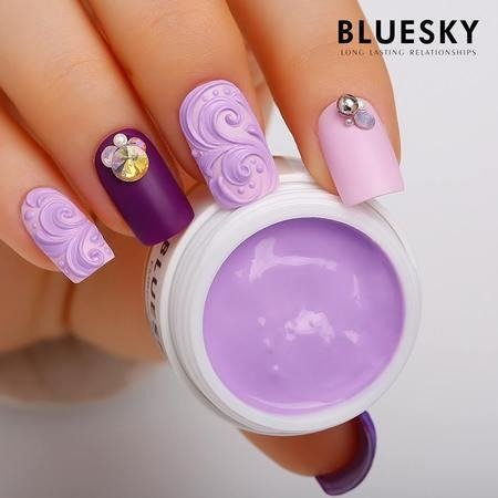 BLUESKY Mini Carving / Emboss Gel 8g - Żel do zdobień strukturalnych - LIGHT PURPLE