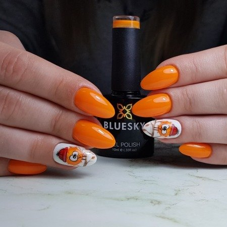 Bluesky Gel Polish AW 1809 FIRE  - Orange Sorbet
