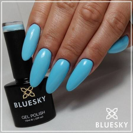 Lakier hybrydowy 80555 BLUE SPLASH 10 ml Bluesky